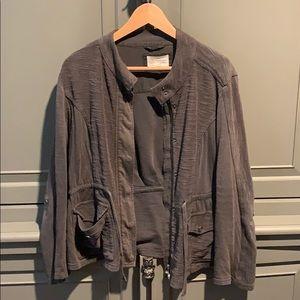 Anthropologie grey jacket